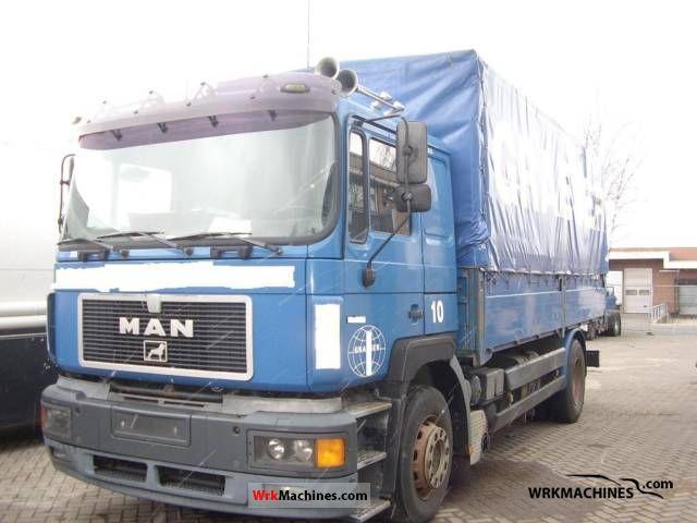 1997 MAN F 2000 19.403 Truck over 7.5t Stake body and tarpaulin photo