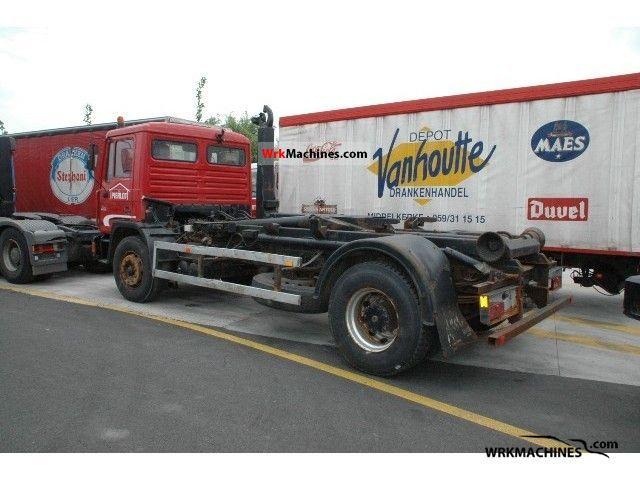1991 MAN M 90 18.232 Truck over 7.5t Roll-off tipper photo