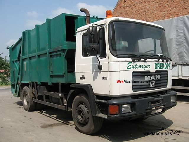 1989 MAN M 90 17.192 Truck over 7.5t Refuse truck photo