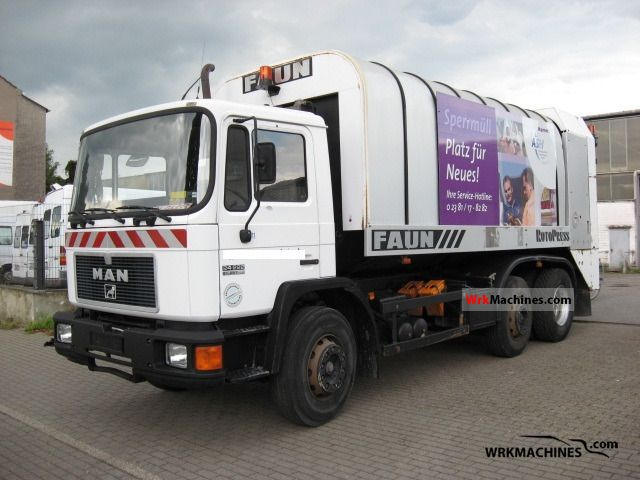 1996 MAN M 90 24.222 Truck over 7.5t Refuse truck photo