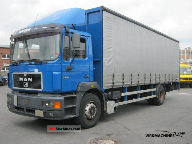 1996 MAN F 2000 19.293 Truck over 7.5t Stake body and tarpaulin photo