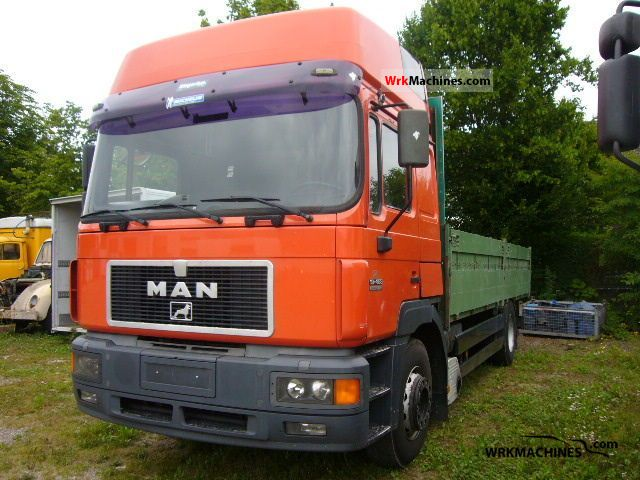 1997 MAN F 2000 19.463 Truck over 7.5t Stake body and tarpaulin photo