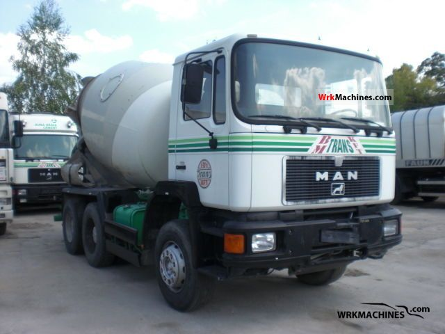 1991 MAN F 90 24.272 Truck over 7.5t Cement mixer photo