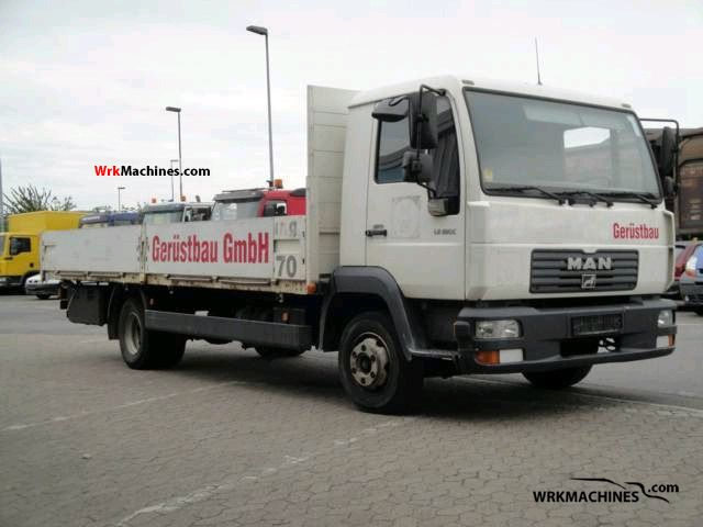 2001 MAN M 2000 L 280 Van or truck up to 7.5t Stake body photo