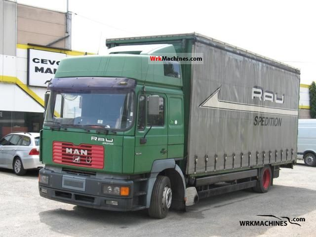 2000 MAN F 2000 19.314 Truck over 7.5t Stake body and tarpaulin photo