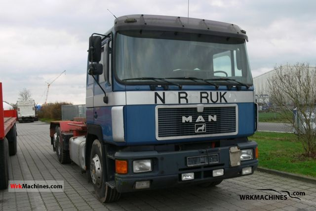 1992 MAN F 90 24.422 Truck over 7.5t Roll-off tipper photo