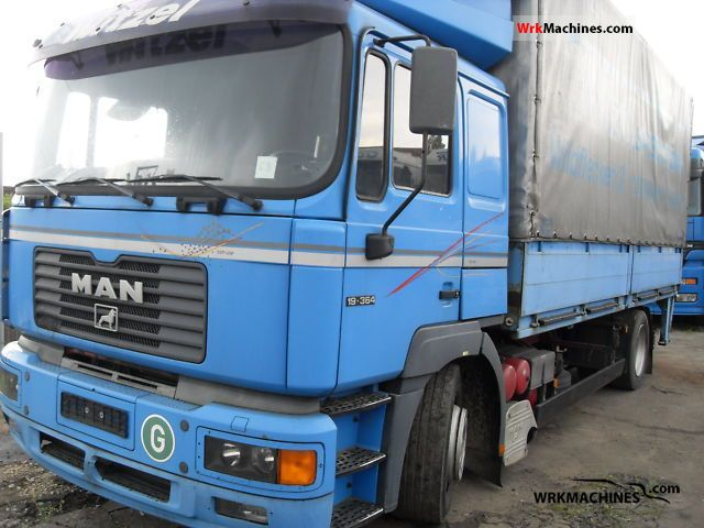 2000 MAN F 2000 19.364 Truck over 7.5t Stake body and tarpaulin photo