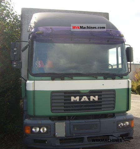 1999 MAN M 2000 L 280 Truck over 7.5t Stake body and tarpaulin photo