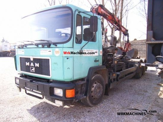 1990 MAN M 90 24.232 Truck over 7.5t Roll-off tipper photo