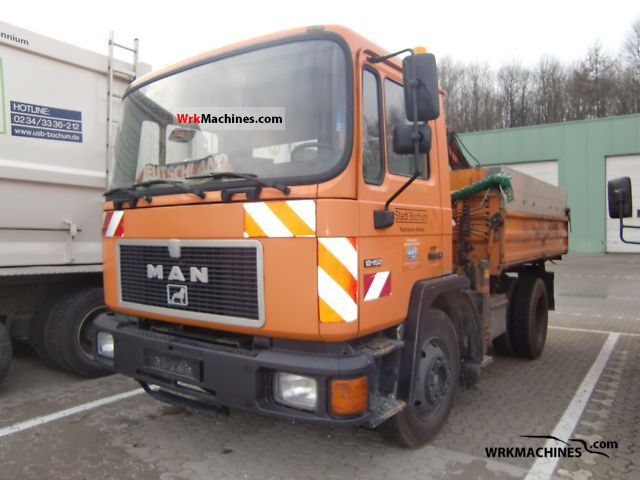 1992 MAN NM 152 Truck over 7.5t Three-sided Tipper photo