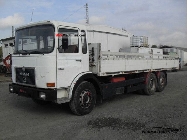 1987 MAN SG 240 Truck over 7.5t Stake body photo