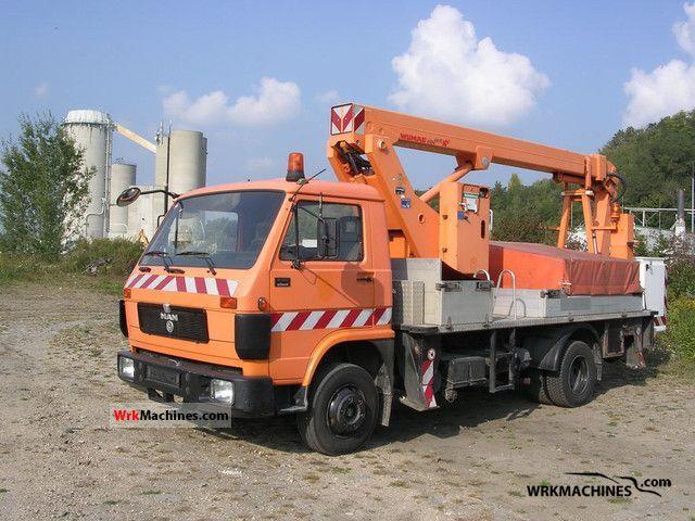 1994 MAN G 90 9.150 Truck over 7.5t Hydraulic work platform photo