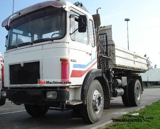 1980 MAN SR 280 Truck over 7.5t Tipper photo