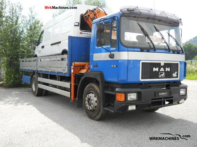 1994 MAN F 90 19.322 F Truck over 7.5t Stake body photo