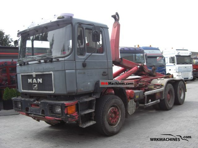 1995 MAN LION´S COACH 402 Truck over 7.5t Roll-off tipper photo