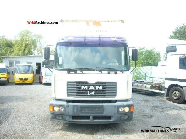 2002 MAN M 2000 L 280 Truck over 7.5t Stake body and tarpaulin photo