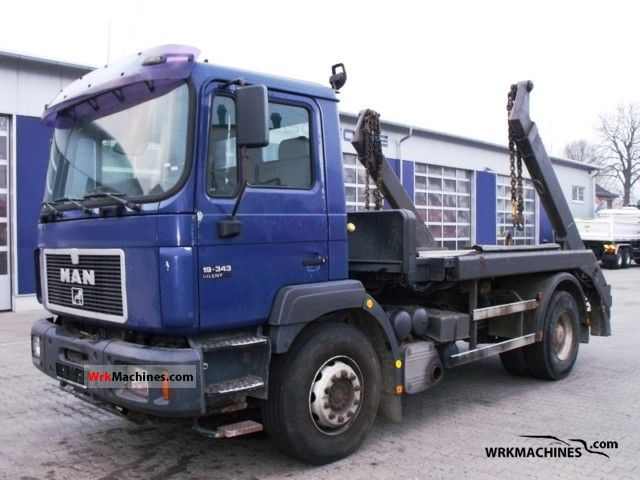 1998 MAN F 2000 19.343 Truck over 7.5t Tipper photo