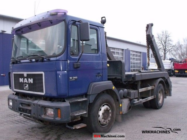 1998 MAN F 2000 19.343 Truck over 7.5t Dumper truck photo
