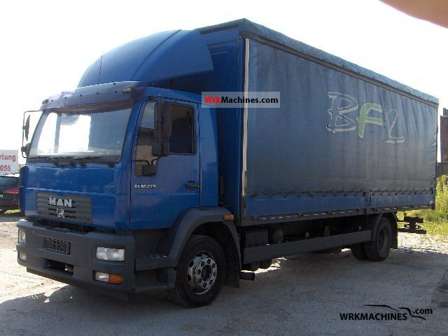 2003 MAN EM 222 Truck over 7.5t Stake body and tarpaulin photo