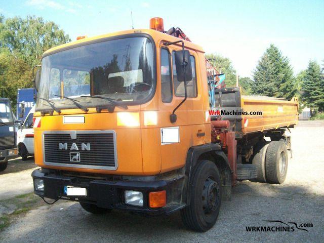 1991 MAN M 90 18.192 Truck over 7.5t Tipper photo
