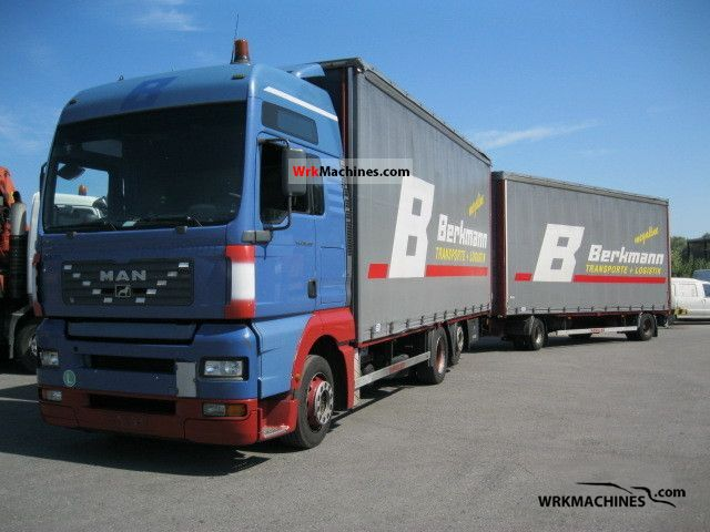 2003 MAN F 2000 26.463 Truck over 7.5t Stake body and tarpaulin photo