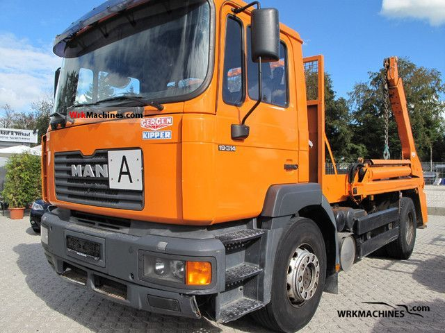 1999 MAN F 2000 19.314 Truck over 7.5t Dumper truck photo