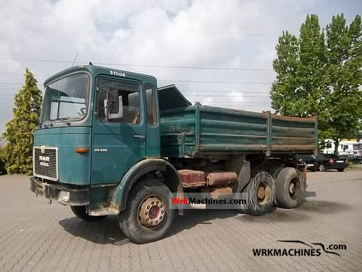 1980 MAN SR 280 Truck over 7.5t Three-sided Tipper photo