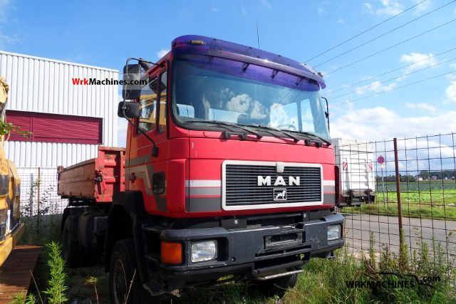 1995 MAN F 90 19.272 Truck over 7.5t Three-sided Tipper photo