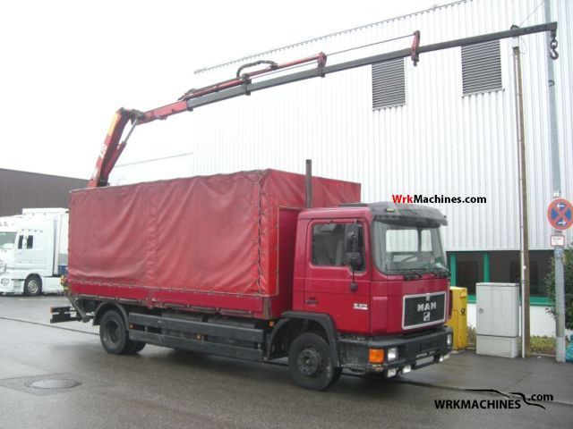 1995 MAN M 90 12.272 Truck over 7.5t Truck-mounted crane photo