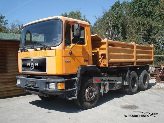1992 MAN F 90 26.372 Truck over 7.5t Three-sided Tipper photo