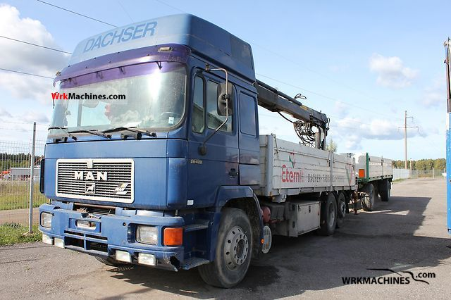 1995 MAN F 90 26.422 Truck over 7.5t Truck-mounted crane photo