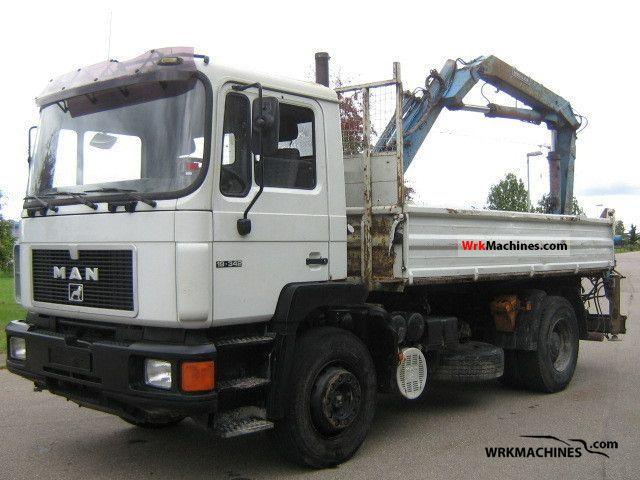 1994 MAN F 90 19.342 Truck over 7.5t Three-sided Tipper photo