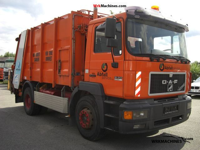 1996 MAN F 2000 19.343 Truck over 7.5t Refuse truck photo