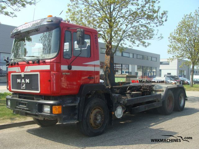 1993 MAN F 90 26.422 Truck over 7.5t Roll-off tipper photo