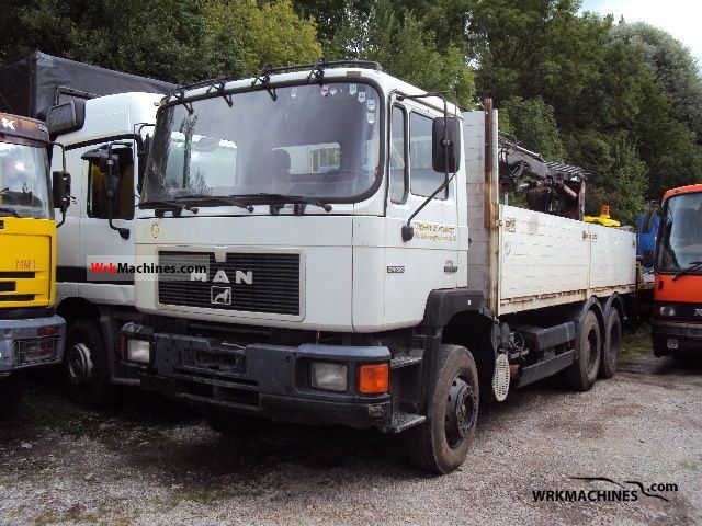 1992 MAN F 90 24.372 Truck over 7.5t Truck-mounted crane photo