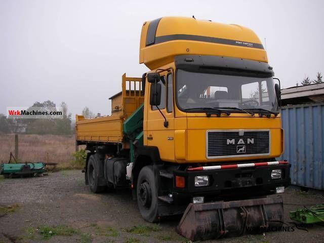 1990 MAN F 90 19.332 Truck over 7.5t Tipper photo