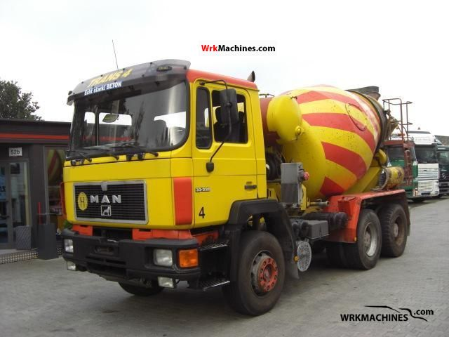 1990 MAN F 90 33.332 Truck over 7.5t Cement mixer photo