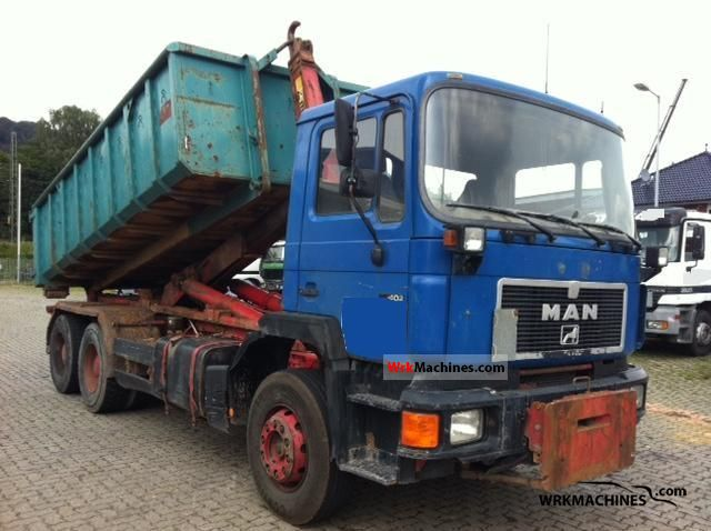 1995 MAN F 90 26.402 Truck over 7.5t Roll-off tipper photo