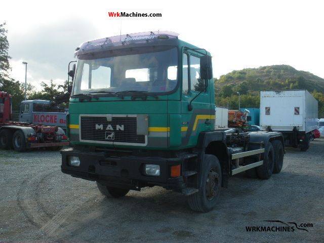 1995 MAN F 90 26.322 Truck over 7.5t Roll-off tipper photo