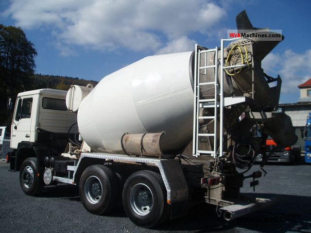 1991 MAN F 90 26.272 Truck over 7.5t Cement mixer photo