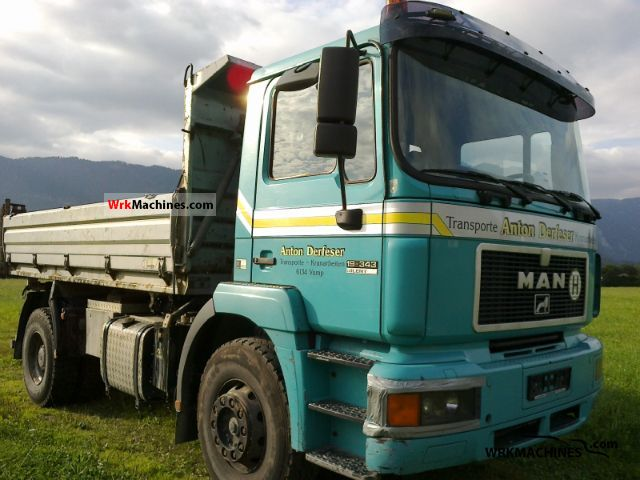 1995 MAN F 2000 19.343 Truck over 7.5t Tipper photo