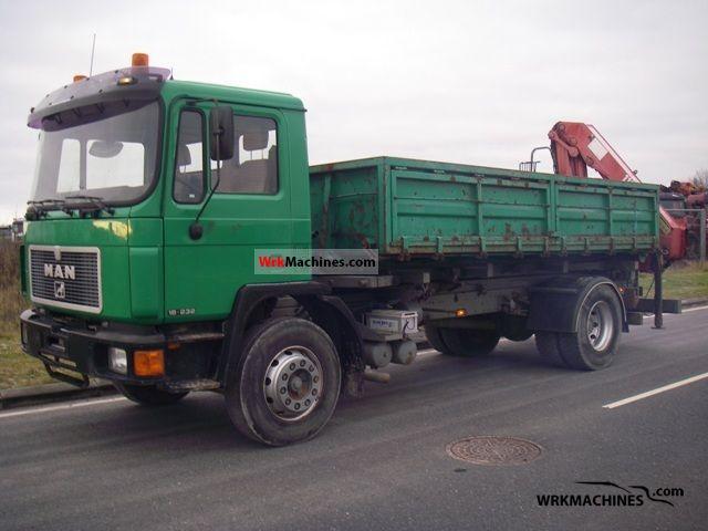 1995 MAN M 90 18.232 Truck over 7.5t Tipper photo