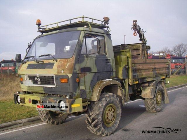 1988 MAN G 8.136 Truck over 7.5t Truck-mounted crane photo