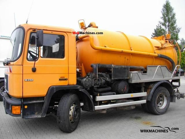 1992 MAN M 90 18.232 Truck over 7.5t Vacuum and pressure vehicle photo
