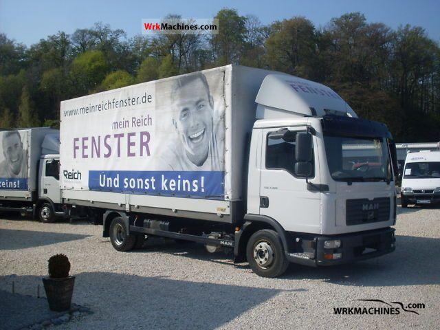 2006 MAN TGL 7.180 Van or truck up to 7.5t Stake body and tarpaulin photo