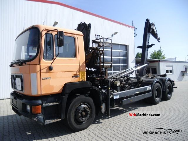 1992 MAN F 90 26.322 Truck over 7.5t Roll-off tipper photo