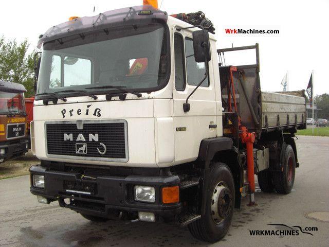 1995 MAN F 90 19.342 Truck over 7.5t Tipper photo