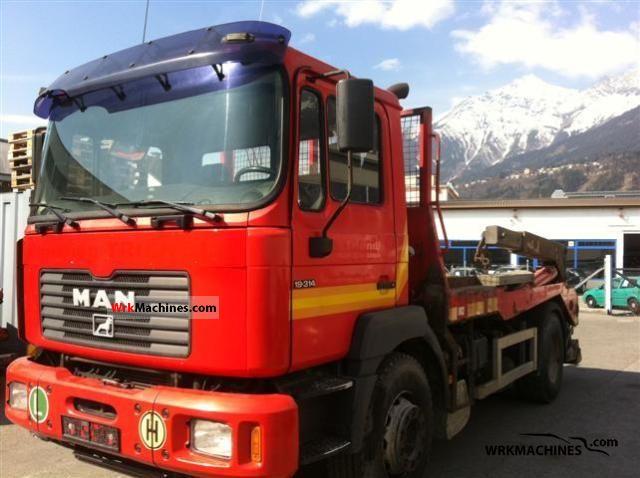 2001 MAN F 2000 19.314 FLC Truck over 7.5t Dumper truck photo