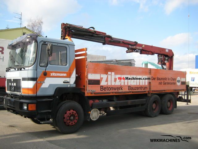 1992 MAN F 90 26.322 Truck over 7.5t Stake body photo