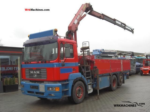 2000 MAN LION´S STAR 414 Truck over 7.5t Truck-mounted crane photo